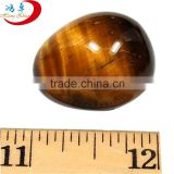 Christmas ornament Natural Yellow Tiger Eyes Eggs Quartz Crystal Eggs Decoration For Collection Souvenir