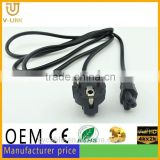 Core technology AC european power extension cord for HDTV/monitor/Hometheater/Video projector