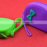 Promotional rubber silicone cosmetic bag with zip