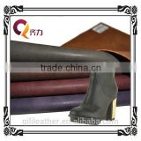 QILI 2014 embossing pu leather with powder feeling natural luster