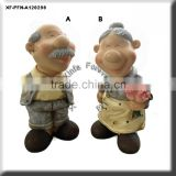hand painting resin garden statues for sale
