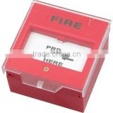 Fire alarm button with reusable push button panel