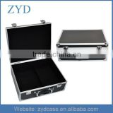 Aluminum portable locked empty carry tattoo tool box, 31*25*13cm
