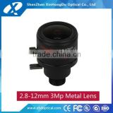 China 2016 new products megapixel 1/2.7 inch F1.4 2.8-12mm adjustable zoom lens