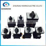 Changeover rotary cam switch LW42 series high voltage automatic electrical 1-8 poles 2 positions 20A-100A sliver point contacts
