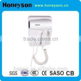 1200W Hotel guest room wall-mounted Hair Dryer high quality professional hotel bathroom wall mounting hair dryer