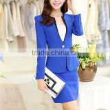 ladies office uniform bespoke uniform jacket and sex wrapped skirt for office lady with high quality