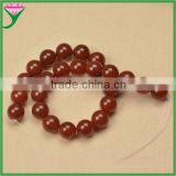 16mm smooth polished round ball shape semi precious natural dark red fire agate