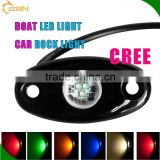 China deck light rock light12v RGB 5 colors blue red green yellow warm white color change marine led deck lighting