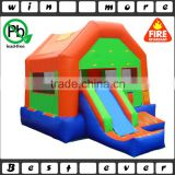 popular fun house combo, party and backyard used kids and adults inflatable moonwalk and slide for sale