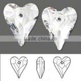 6240 Wild Heart Austrian Crystal Pendants, Mother's Day Jewelry Making, 001_Crystal(SWAR-6240-27MM-001)