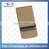 promotional stock mold blank custom gold brass money clip