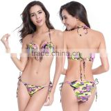 Fashion Women's Sexy Bandeau Tassel Lady Bikini Set Padded Push Up Bra Swimsuit                                                                         Quality Choice