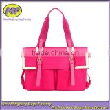2015 New Cute Pink Tote and Shoulders Nylon and PU Woman Business Bag or Briefcase