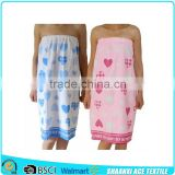 2015 NEW style girl favorite cotton velvet printing FDY-BATH-WRAP towel printing wrap skirt