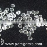 Rose Quartz Round Faceted Cut Lot For Diamond Ring From Wholesaler