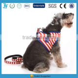 Blue & White Striped Sea Navy Pet Dog Harness and Leashes