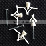 Nylon Plastic Gypsum board Anchor Butterfly Toggle anchor