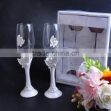 Wedding celebration champagne glass cup/ classic wedding champagne