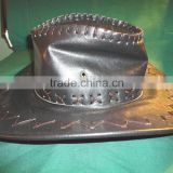 Black, Outback, Spaghetti Western, Leather Cowboy Hat Brown