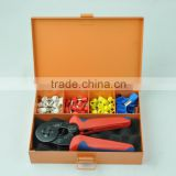 LSC8-6-4TH 0.25-6mm2 self adjustable ferrule crimper and Bushing terminals kit packed in iron tools box