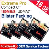Blister Packing Extreme Pro CompactFlash CF Card UDMA7 95MB/s Speed CF Memory Card 64 128 256 GB micro 4K Camera Video