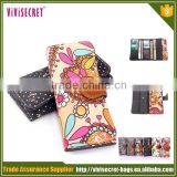 vivisecret fashion flower printed girls and women coin sorter purse