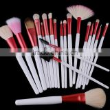 20pcs Pink Professional Makeup Brush Sets Tools Cosmetic Brush + Pink Pouch Bag