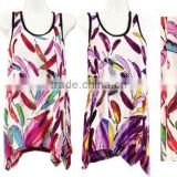 Wholesale Cheap Tank Tops Feather Rhinestone Butterfly Design Shirts 100+ styles in stock