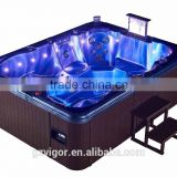 2016 Factory newest top selling luxury massage hot tub with 2 loungers / spa air blower spa rectangular hot spa tub