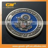 Audit Wal-Mart military metal challenge coin, plating gold zinc alloy coin,romania souvenir coin