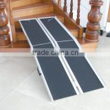Foldable Suitcase Mobile Ramp Aluminum Wheelchair Threshold Ramp Portable Bike Floor Ramp