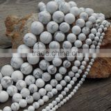 6/8/10/12mm Natural white turquoise beads bulk loose turquoise stones for bracelets for sale