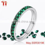 Wholesale high quality china birthstone rings factory stainless steel jewelry