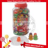Mini Fruit Jelly Pudding Cup in Square Jar