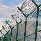 Hot sale!!PVC fence prison fences,wire mesh BRC fence,anti climb vinyl fence,airport security fencing for sale