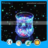 2016 new popular bar glass transparent flashing led light cup /hard plastic cup/ lucency plastic cup
