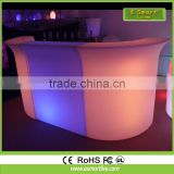 2015 new design manufacturer LED bar counter with remote controler/led furniture