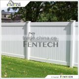Fentech White Flat-Top Decorative Full Privacy Vinyl Fence For Back Yard, Garden, House, Pool