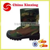 Factory Supply New Military Woodland Camouflage Canvas Boots