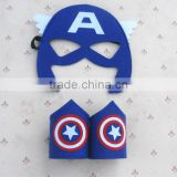 China factory derictly wholesale Superhero Dress Up face felt mask - 4 Satin Capes and 4 Felt Masks