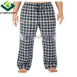 Cotton Flannel Pajama Lounge Pants- Blue/Green/White Plaid