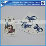 Promotional custom cheap temporary body tattoo sticker