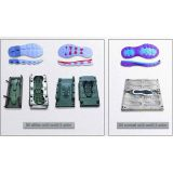 Double Color Eva Shoes Mold Eva Injection Slipper Mould Factory Man Shoe Making Molds
