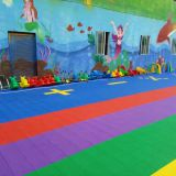 Soft rubber floor for basketball court, kindergarten floor