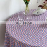 Ins Korean cotton tablecloths, high-quality checkered tablecloths