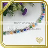 Stunning Silver Crystal Rhinestone Chain Colorful Bridal Dress Costume Trim Applique FC616