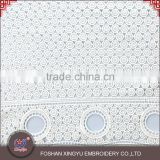 Top quantity New product round dot pattern cotton guipure chemical lace fabric wholesale