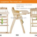 Wooden Baby Dinning Chair, Children Table and Chair, Children Hairdressing Chair                                                                         Quality Choice