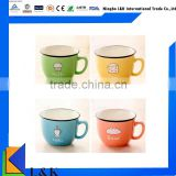 bulk ceramic coffee cup/custom logo ceramic cup/ceramic tea cup